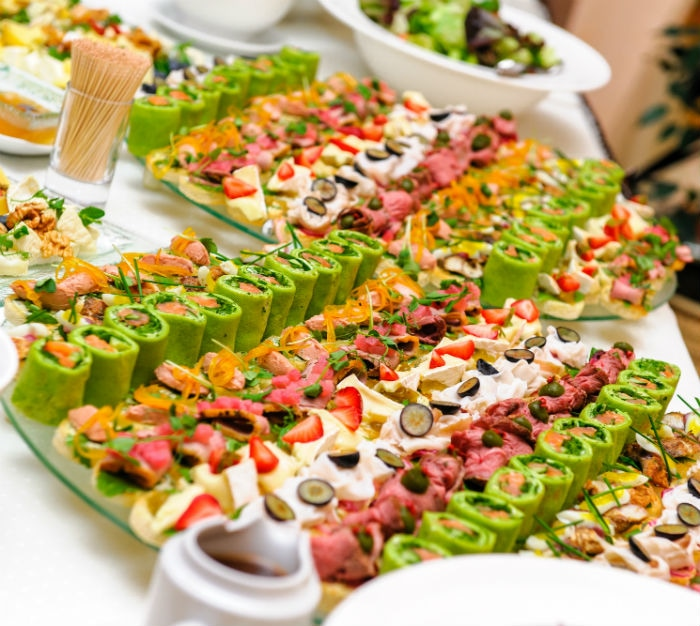 Delicious array of catering