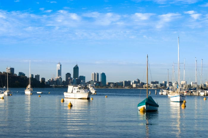 View from the Swan River Cruise